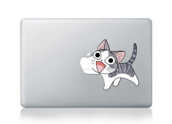 cute cat macbook decals