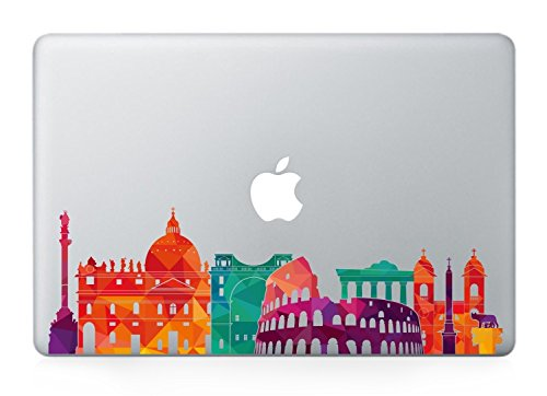 Rome skyline macbook decals