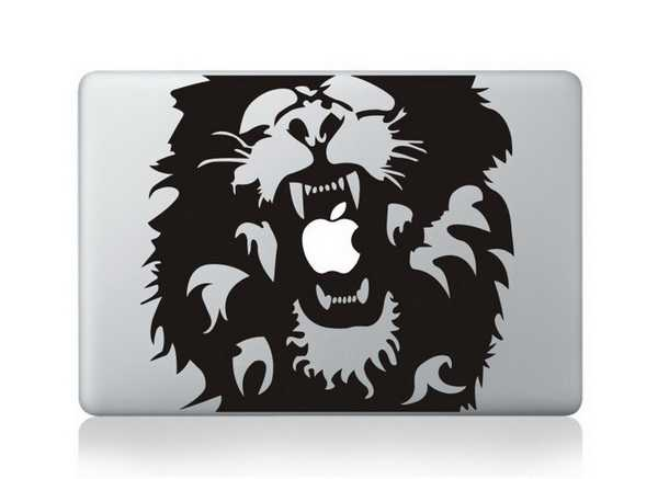 lion macbook decals